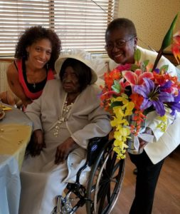 103 year old Bertha Muldrow and Adopt a Nursing Home Patient