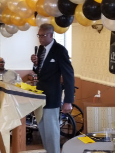 Vern Cox, West Ward Councilman speaks at Alaris Essex Nursing Home