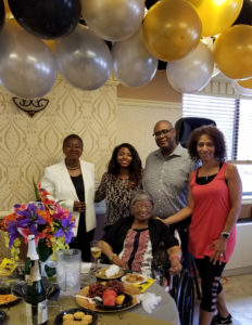103 year old Bertha Muldrow Irvington resident