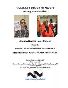 Adopt A Nursing Home Patient Gospel Concert Flyer